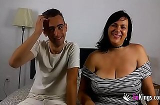 Nataly wants to show her busty curvy body to get everyone in Barcelona horny