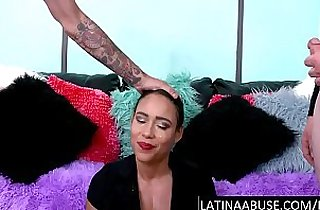 Latina cutie facefucked and pissed