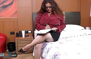 AgedLove chubby mature fucking on bed