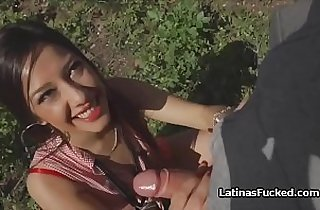 Picking up and fucking spicy Latina outdoors