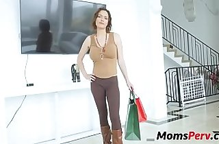 Son catches mom changing fucks her