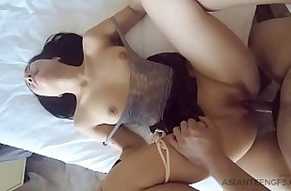 Beautiful girl sucks and fucks in a hotel