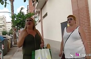 The Spanish Mommies also want to do porn. BBW Blonde Threesome