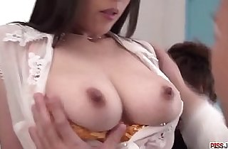 Rina Mayuzumi works hard to deal cocks at the office More