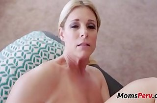 Son massages mom she massages his balls