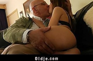 Oldman satisfy his young and horny cheating wife