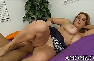 Mama gets anal creampied