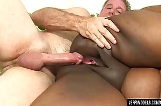 Fat Black Chick Heather Mason Sucks a Thick white Cock Then Takes It Up Her Pussy
