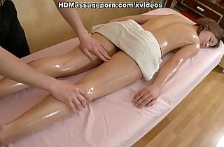 Smooth body of cute asian chick oiled and hardly owned anally