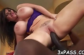Constricted anal is gangbanged hard