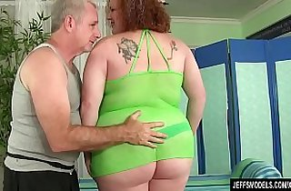 Redheaded Fat Girl Raven has Her Fleshy Body and Cunt Massaged
