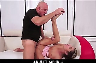 Petite brunette Teen Granddaughter Gina Gerson Fucked By Grandpa For Skipping School