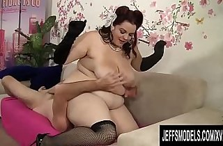 BBW Buxom Bella Steers His Mouth as He Dines on Her Pussy Then Pounds It