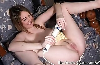 Katie K Vibes Her Clit to a Strong Twat Twitching Squirting Orgasm