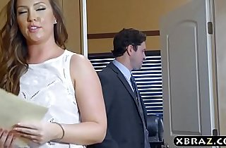 Big ass office bitch rough anal drilled by her boss