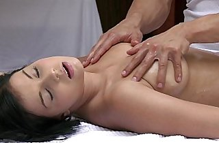 ORGASMS Beautiful black girl has her sexy body massaged and pleasured by hot guy