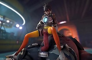 Overwatch Tracer x Roadhog Animated, Sound Guilty