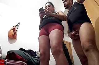 This prostitute pisses herself off when she gets his dick