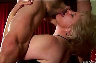 Buxom old blonde spunker is a super hot fuck loves a sticky facial cumshot