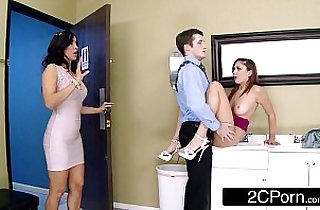 Naughty and Teen FFM 3Some At The Office Isis Love, Ariana Marie