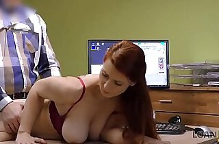 Sex for cash is the best business strategy of buxom redhead