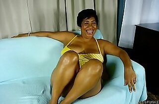 Busty old spunker talks about titty fucking a lucky younger guy