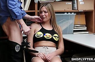 Shoplyfter Scammer Teen Fucked By Older Detective