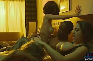 MILF hotel manager joins guests for some nice group sex