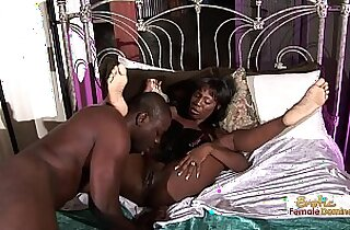 Sexy Long legged Black Beauty Slammed On The Bed
