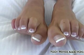 Stroke your hard cock while you suck my toes