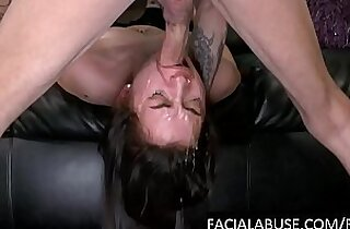 Cute first timer throat drilled hard