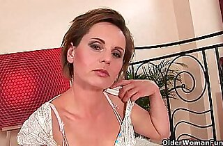 Bored soccer mom needs his cock in her mouth and up her cunt