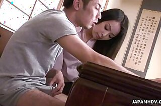 Sexy teacher getting fucked by the nerdy student