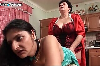 Horny mature whores fuck their cunts wit