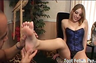 Get on your knees and lick my feet