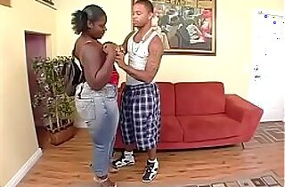 Scene From Fabulous Black Fattyz Thick Sexxi and Jay Strokes