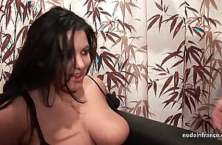 Casting young BBW in fishnet stockings hard banged fisted and jizzed on tits